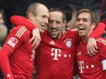 Bayern celebrating