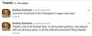 arshavin tweets